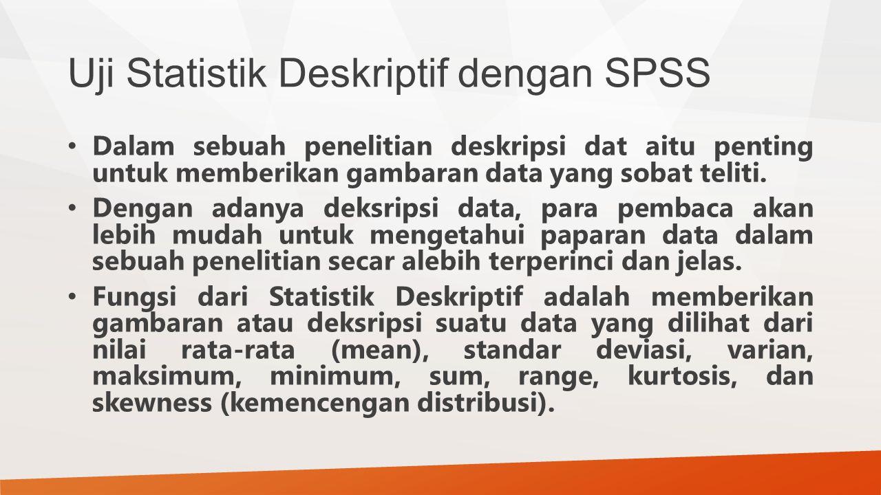 Uji Statistik Deskriptif dengan SPSS