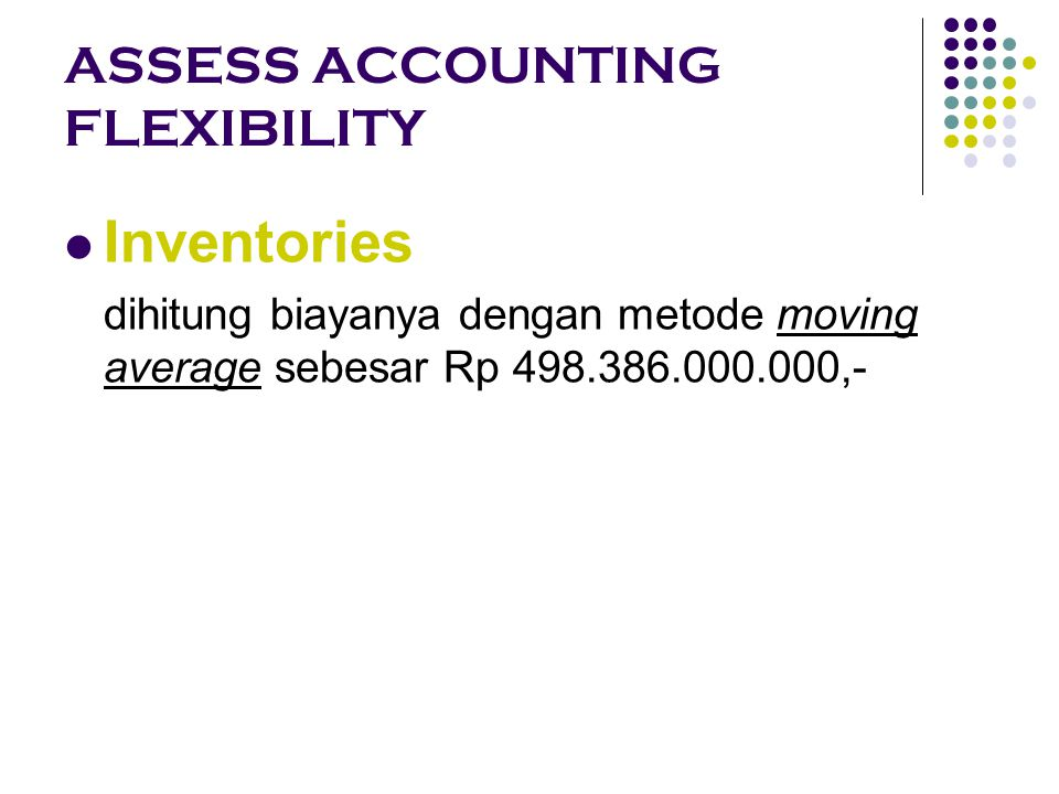 ASSESS ACCOUNTING FLEXIBILITY