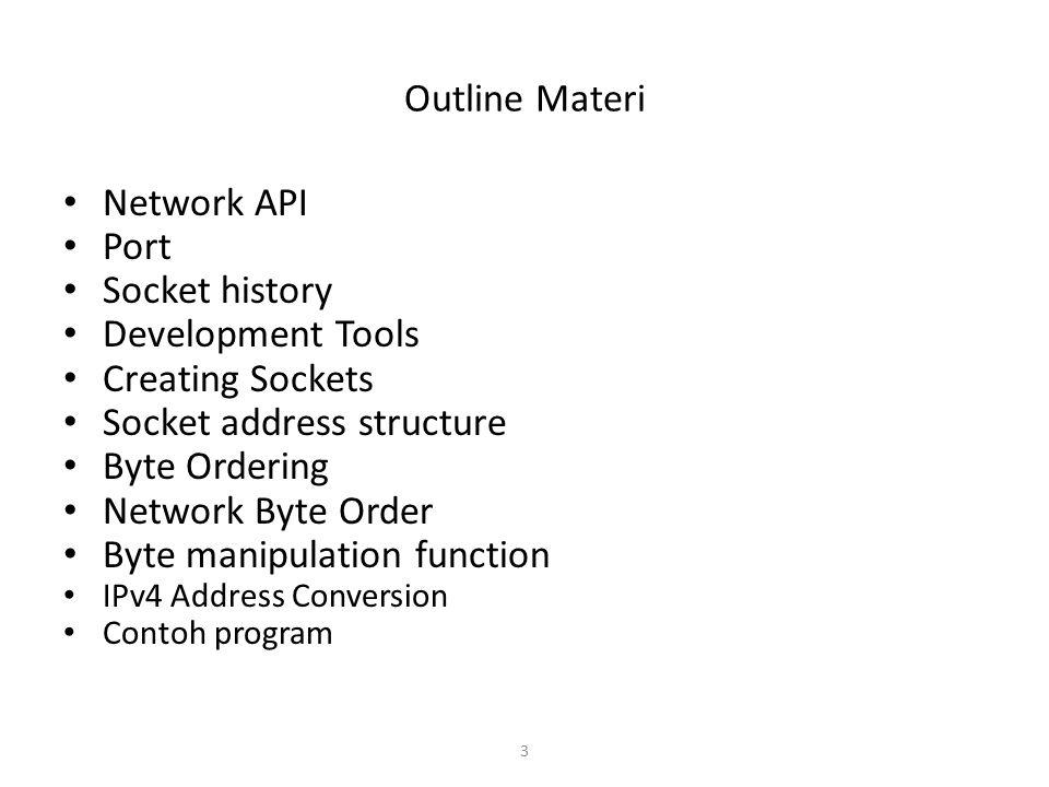 Socket address structure Byte Ordering Network Byte Order