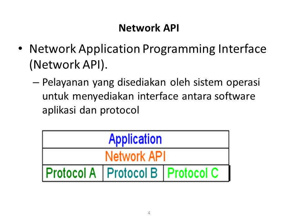 Network Application Programming Interface (Network API).