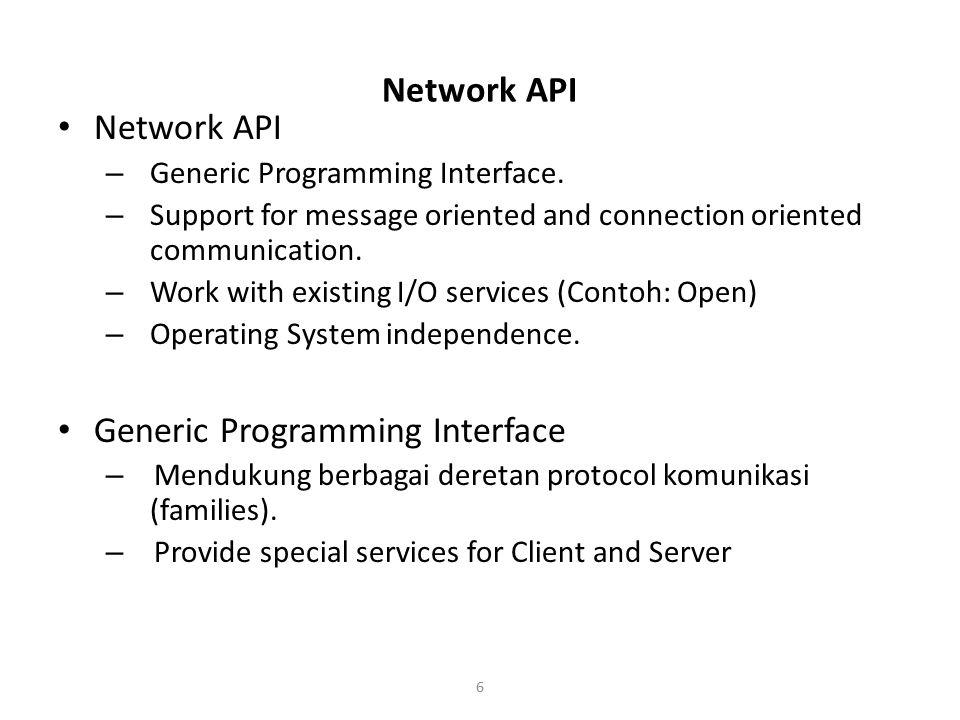 Generic Programming Interface