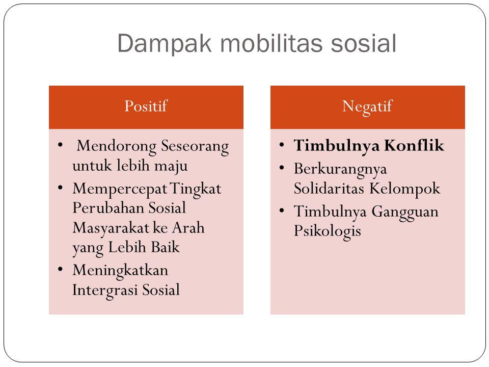 Dampak mobilitas sosial