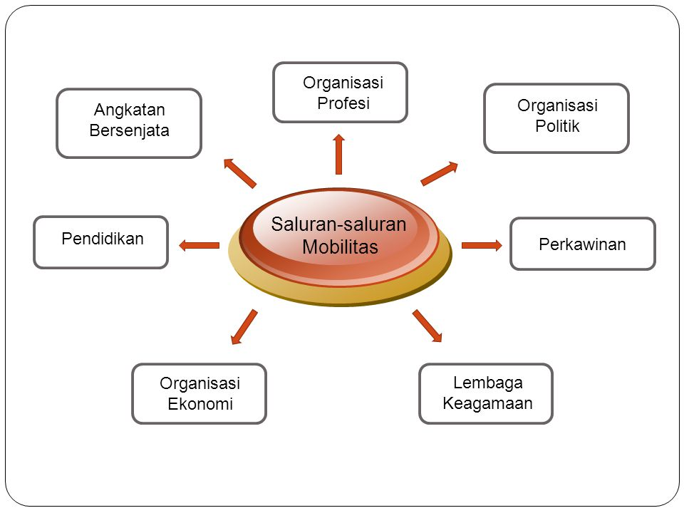 Saluran-saluran Mobilitas Organisasi Profesi Organisasi Politik