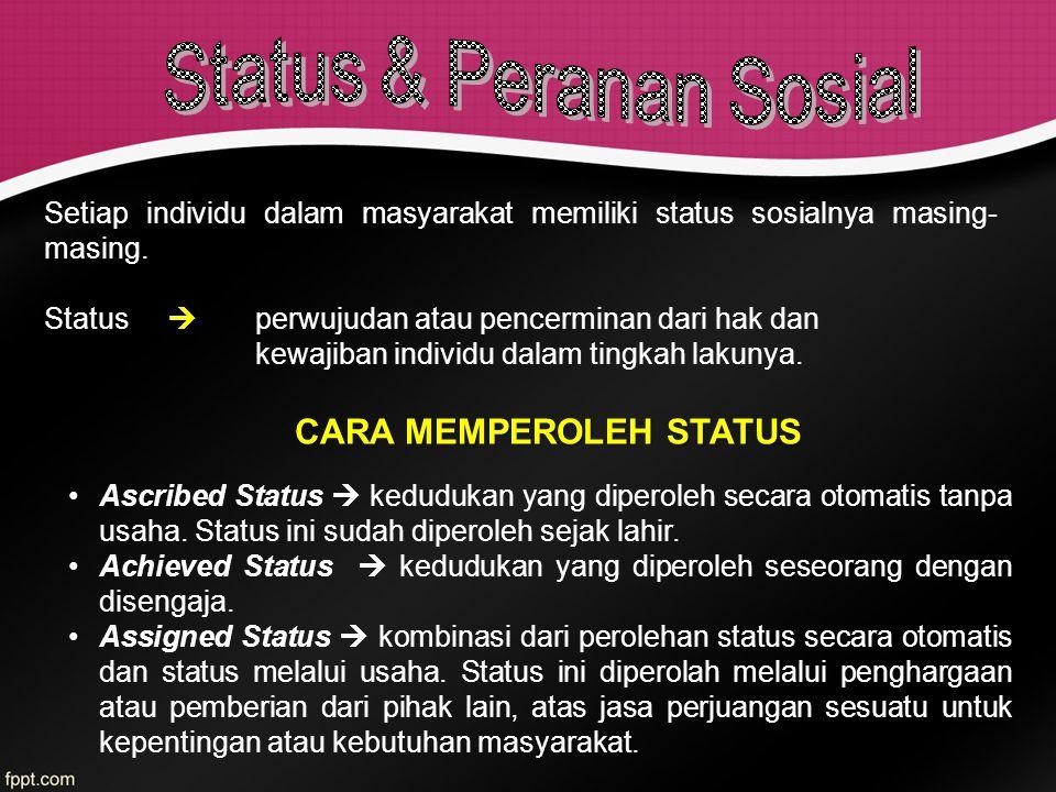 CARA MEMPEROLEH STATUS