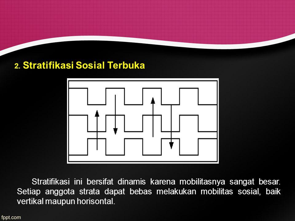 2. Stratifikasi Sosial Terbuka