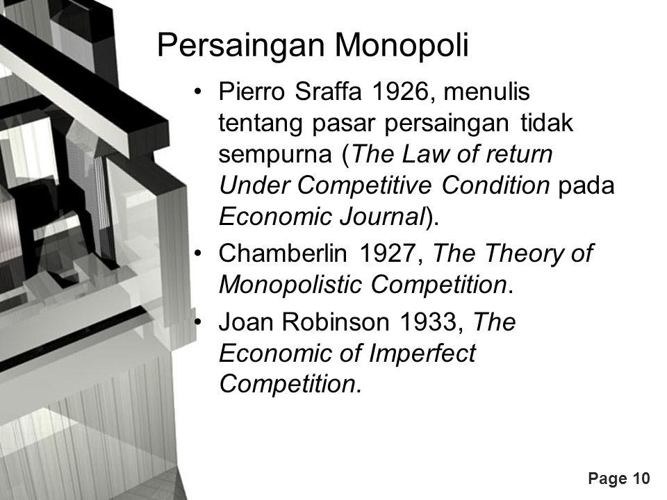 Persaingan Monopoli