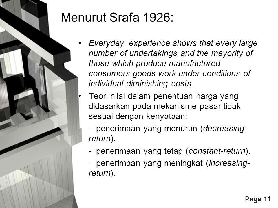 Menurut Srafa 1926: