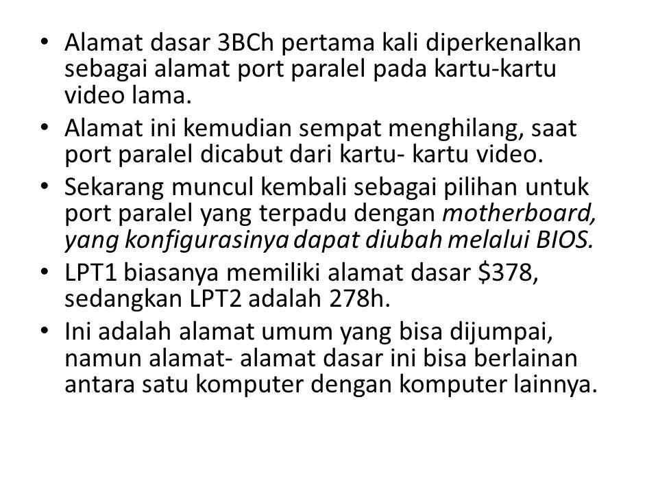 Alamat dasar 3BCh pertama kali diperkenalkan sebagai alamat port paralel pada kartu-kartu video lama.