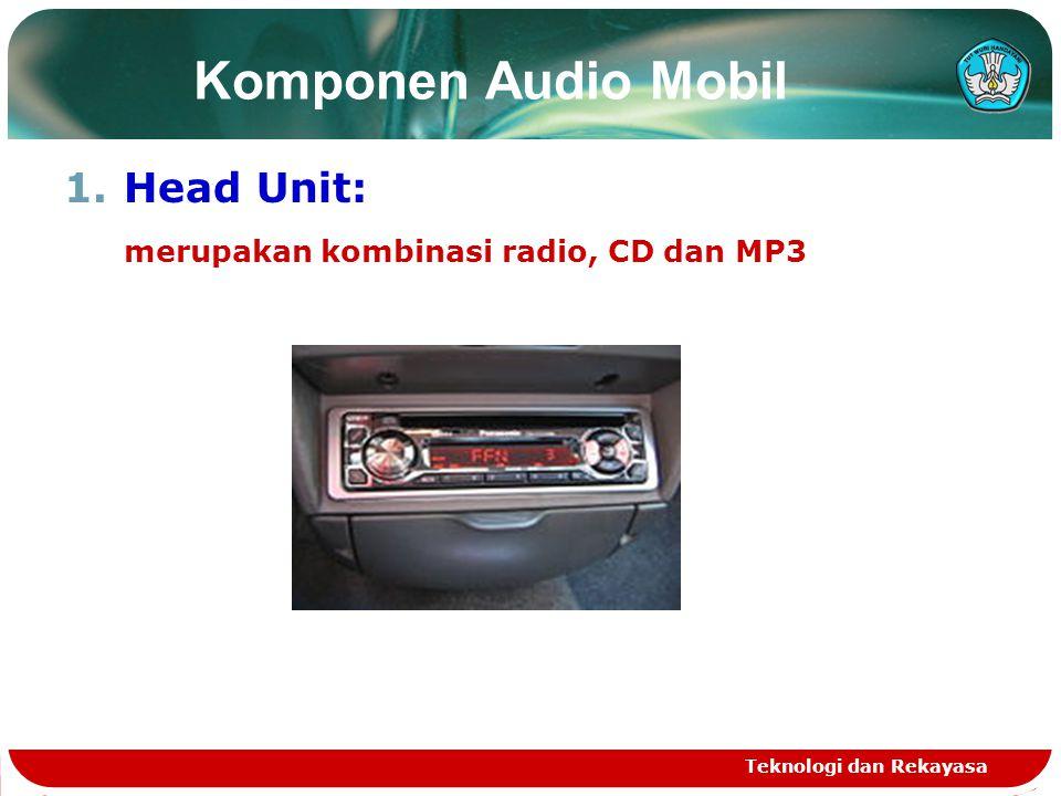 Komponen Audio Mobil Head Unit: merupakan kombinasi radio, CD dan MP3