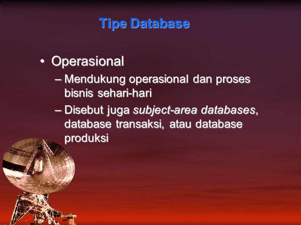 Tipe Database Operasional