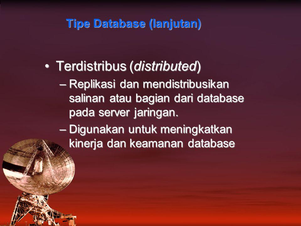 Tipe Database (lanjutan)