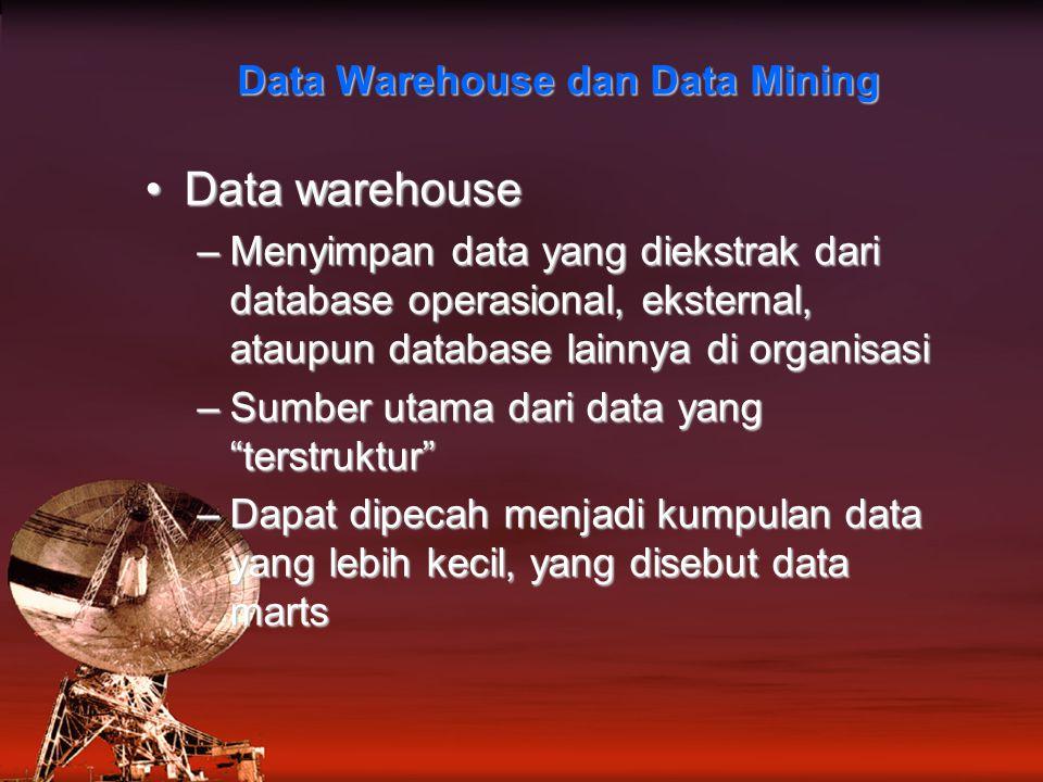 Data Warehouse dan Data Mining