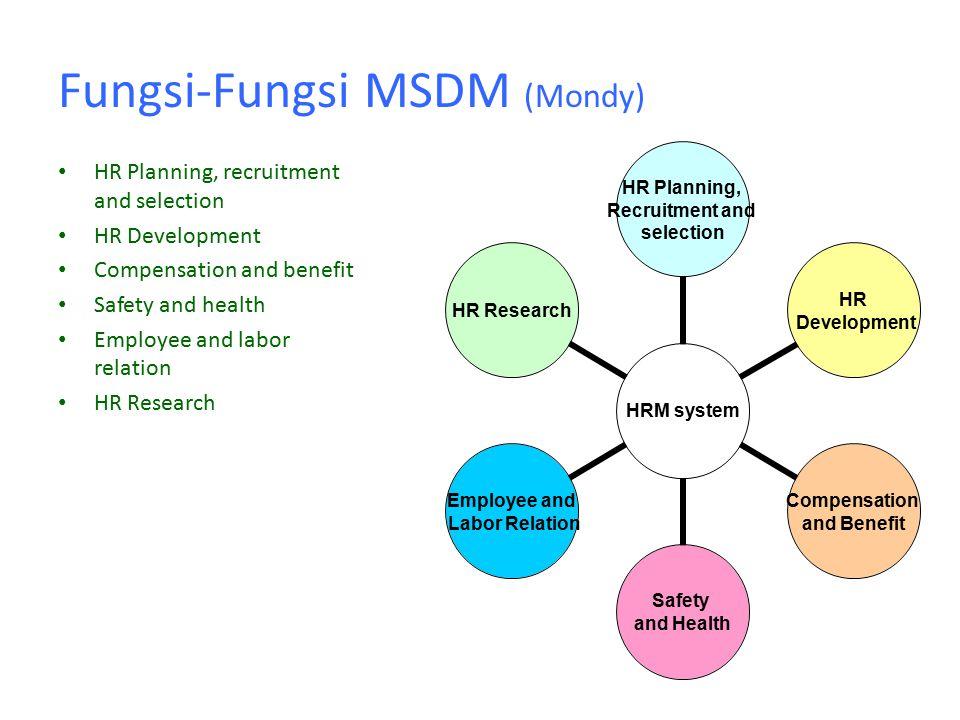 Fungsi-Fungsi MSDM (Mondy)