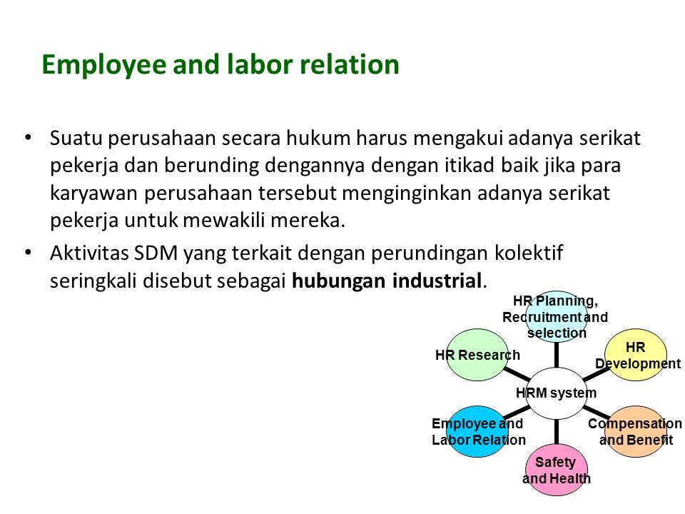 Employee and labor relation