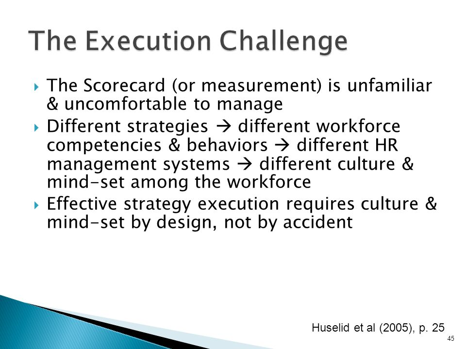 The Execution Challenge
