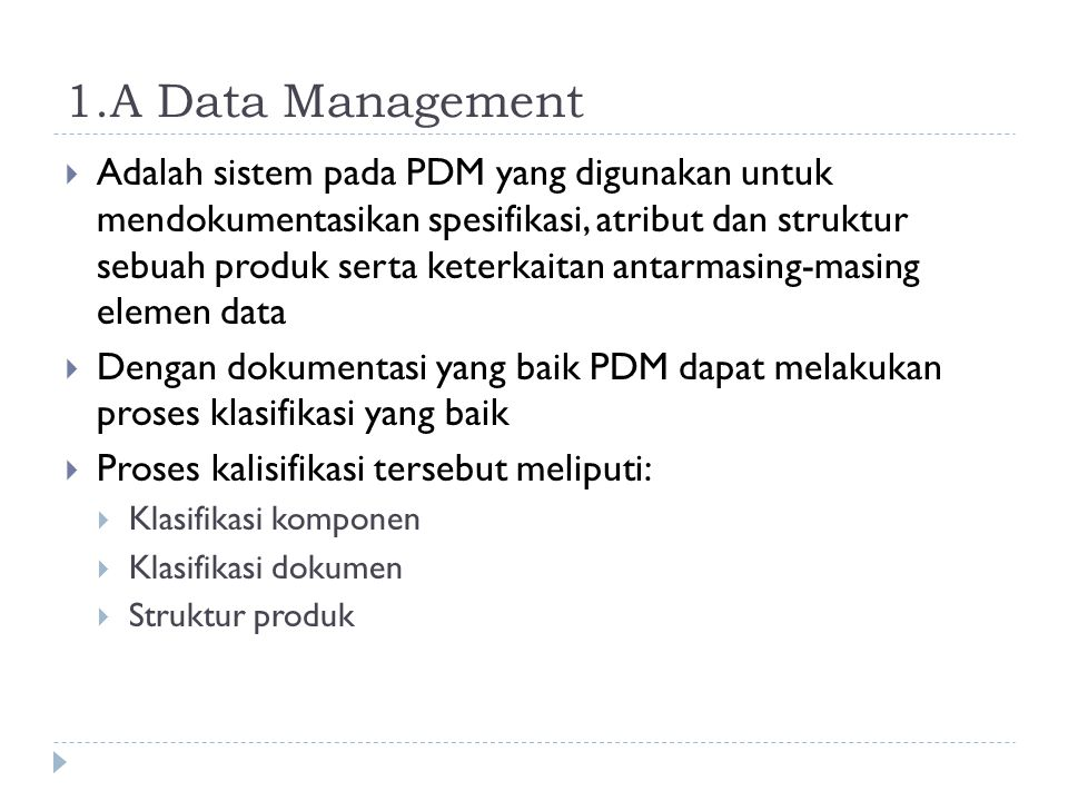 1.A Data Management