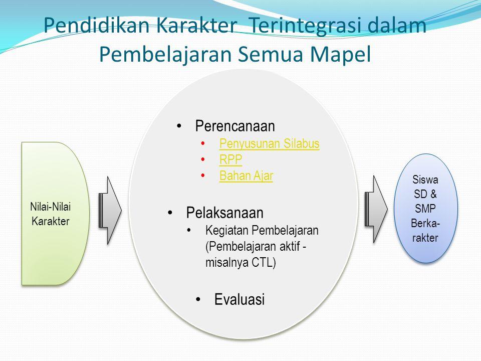 Pendidikan Karakter Terintegrasi dalam Pembelajaran Semua Mapel