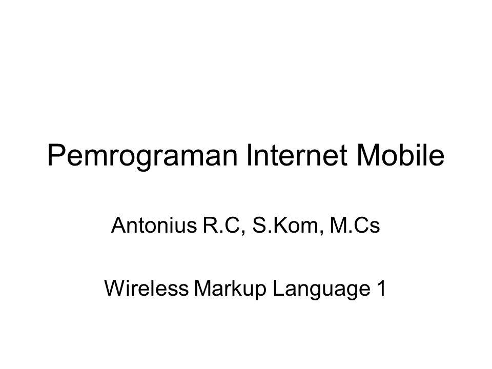 Pemrograman Internet Mobile