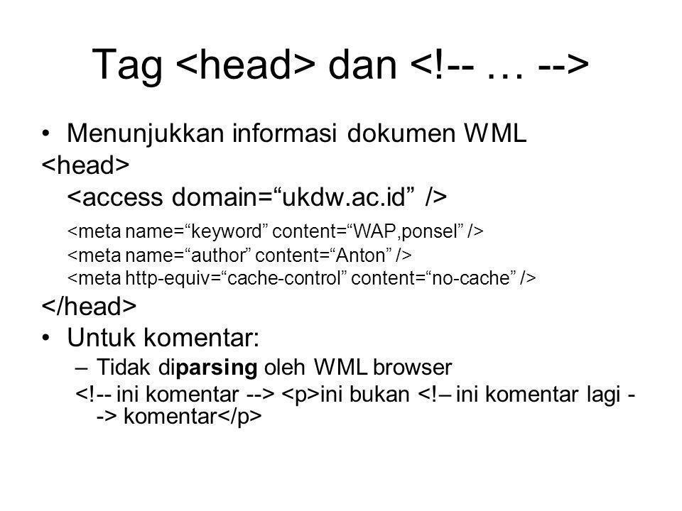 Tag <head> dan <!-- … -->
