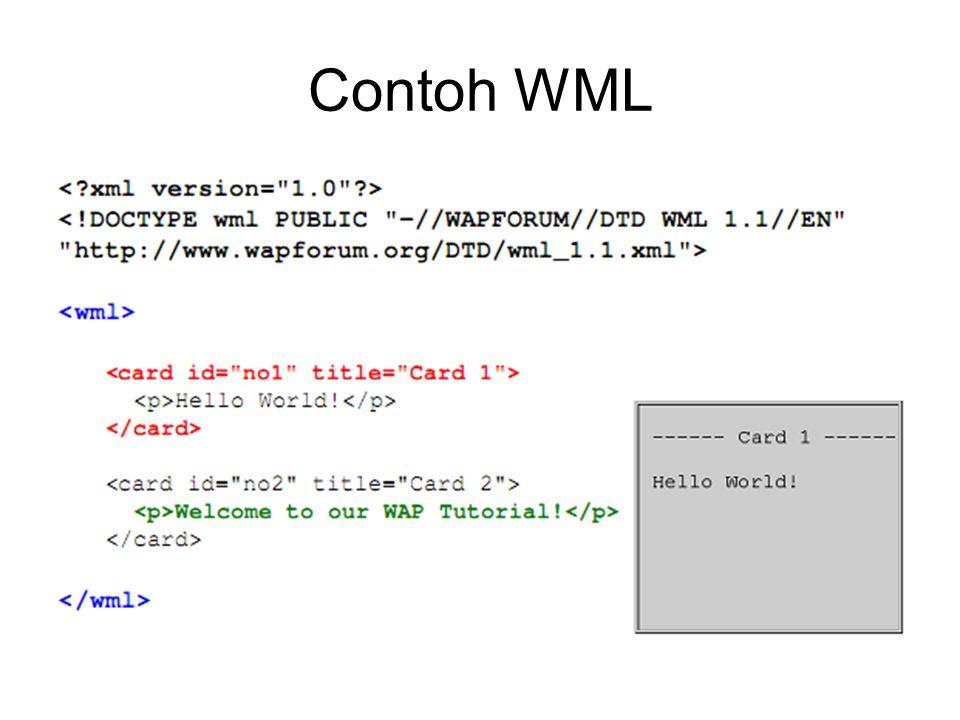 Contoh WML
