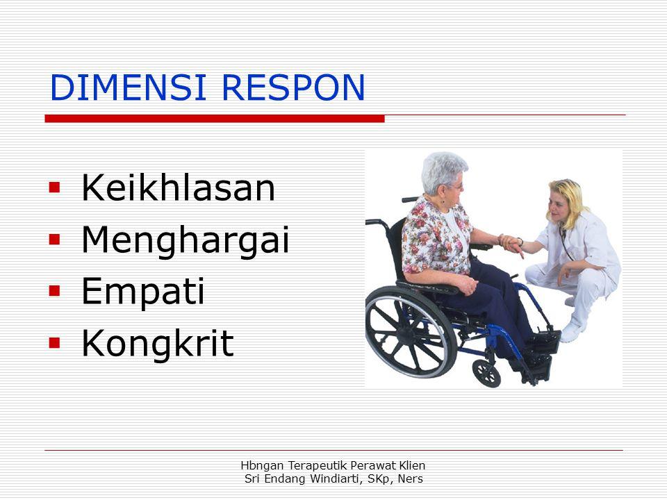 Hbngan Terapeutik Perawat Klien Sri Endang Windiarti, SKp, Ners