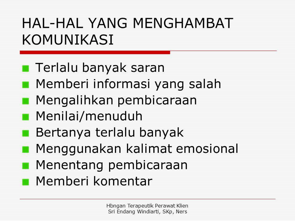 HAL-HAL YANG MENGHAMBAT KOMUNIKASI