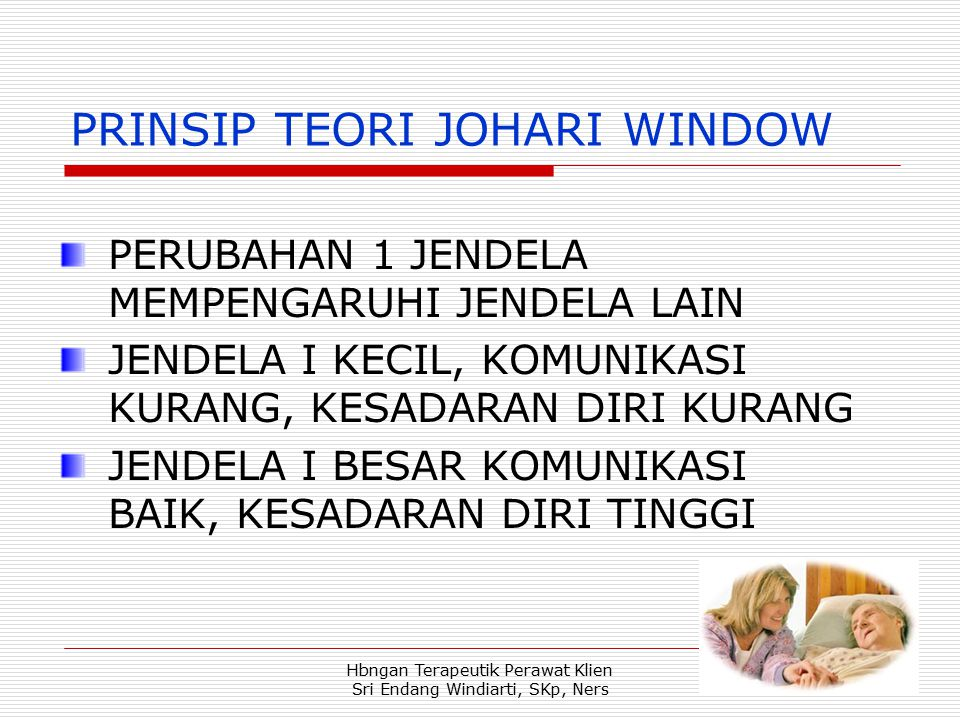 PRINSIP TEORI JOHARI WINDOW
