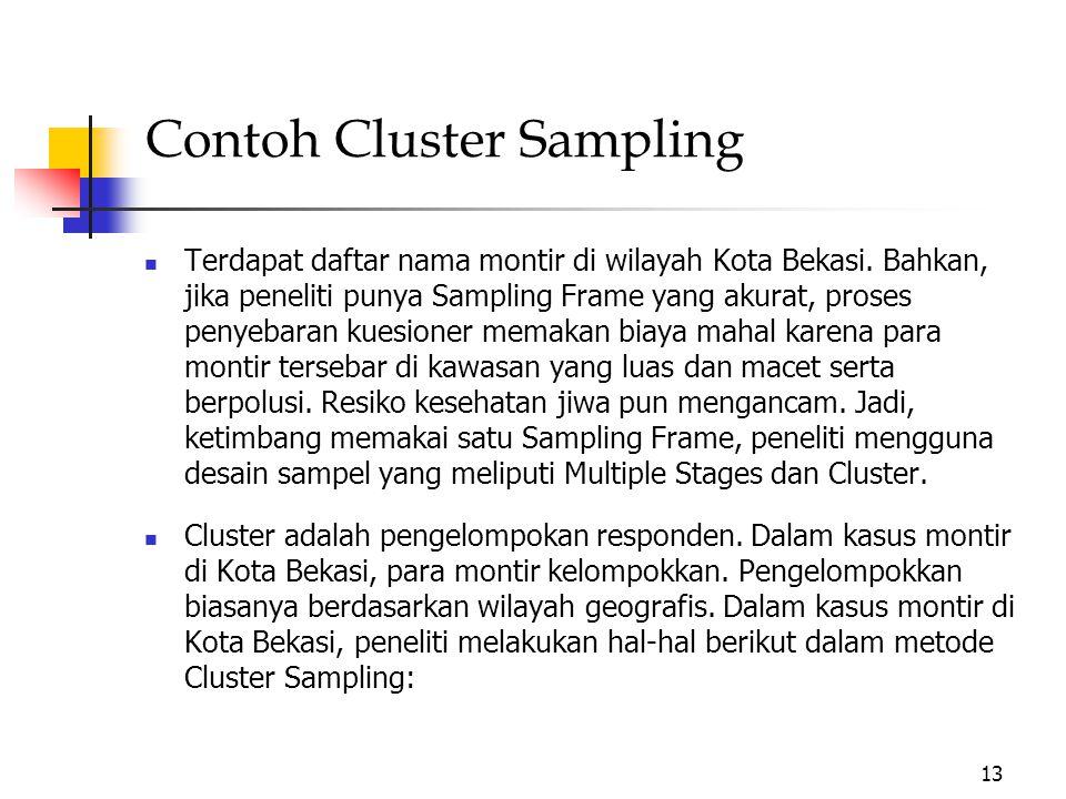 Contoh Cluster Sampling