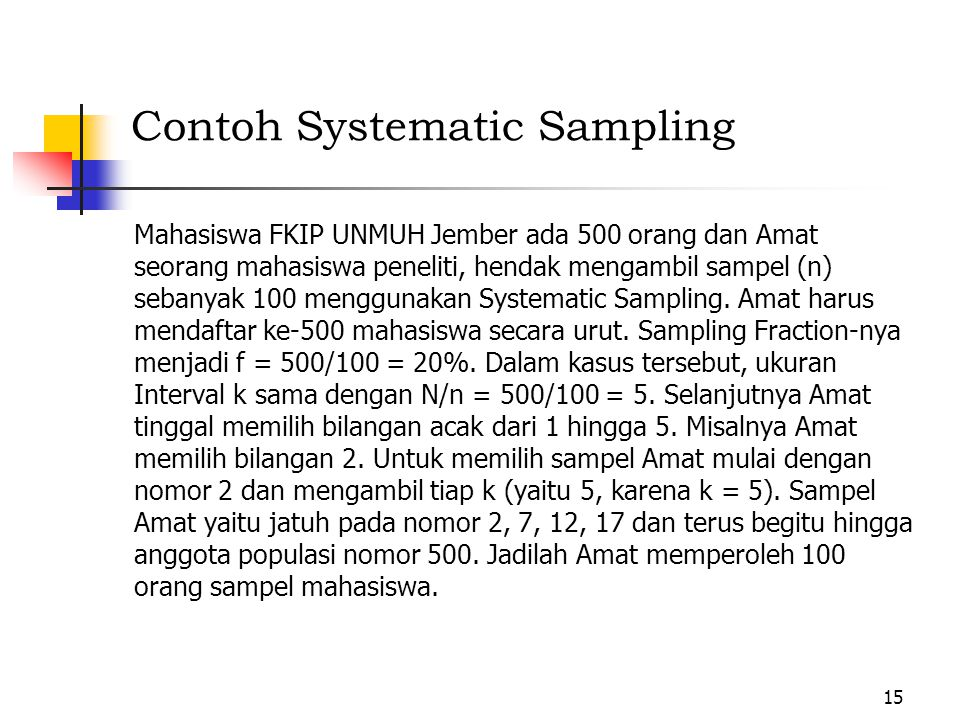 Contoh Systematic Sampling