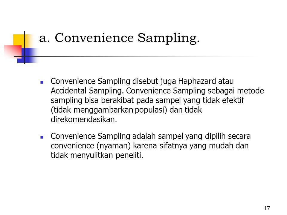 a. Convenience Sampling.
