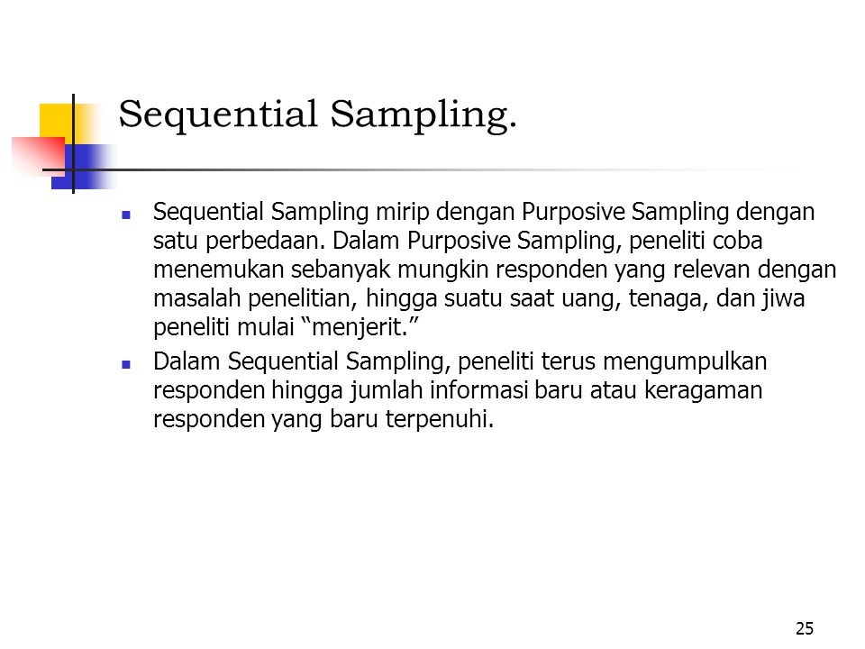 Sequential Sampling.