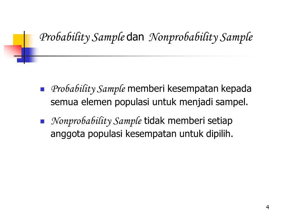 Probability Sample dan Nonprobability Sample