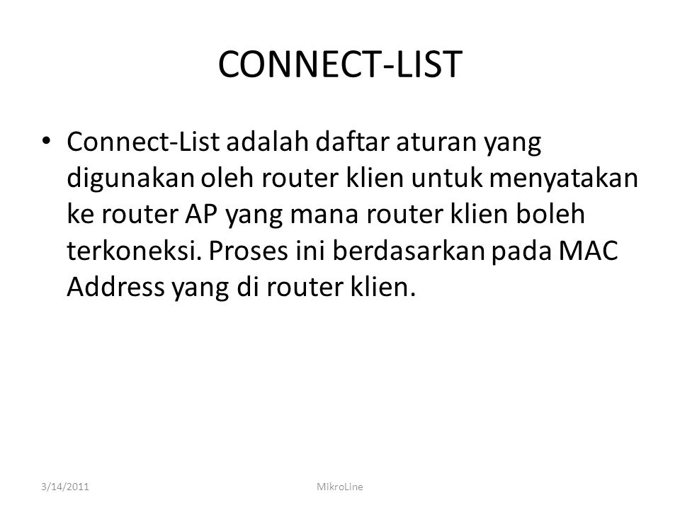CONNECT-LIST