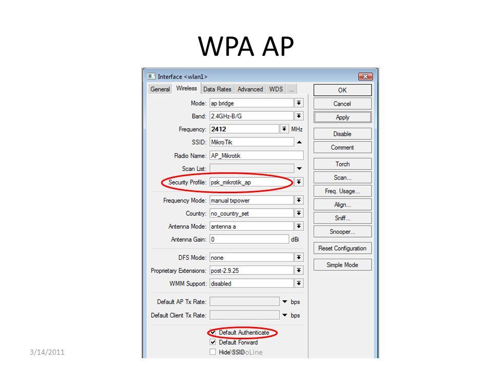 WPA AP 3/14/2011 MikroLine