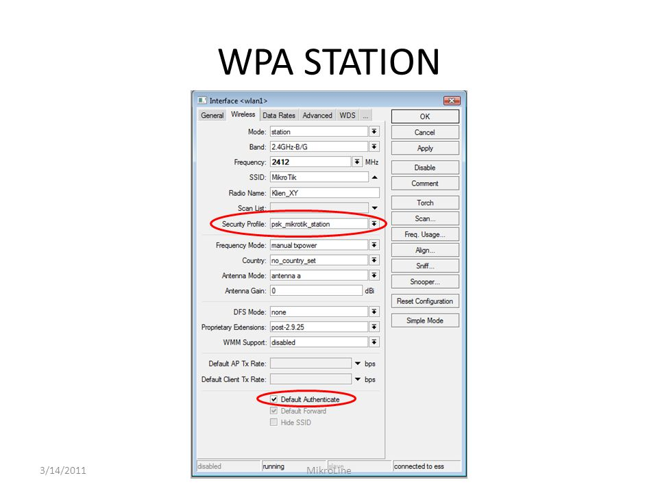 WPA STATION 3/14/2011 MikroLine