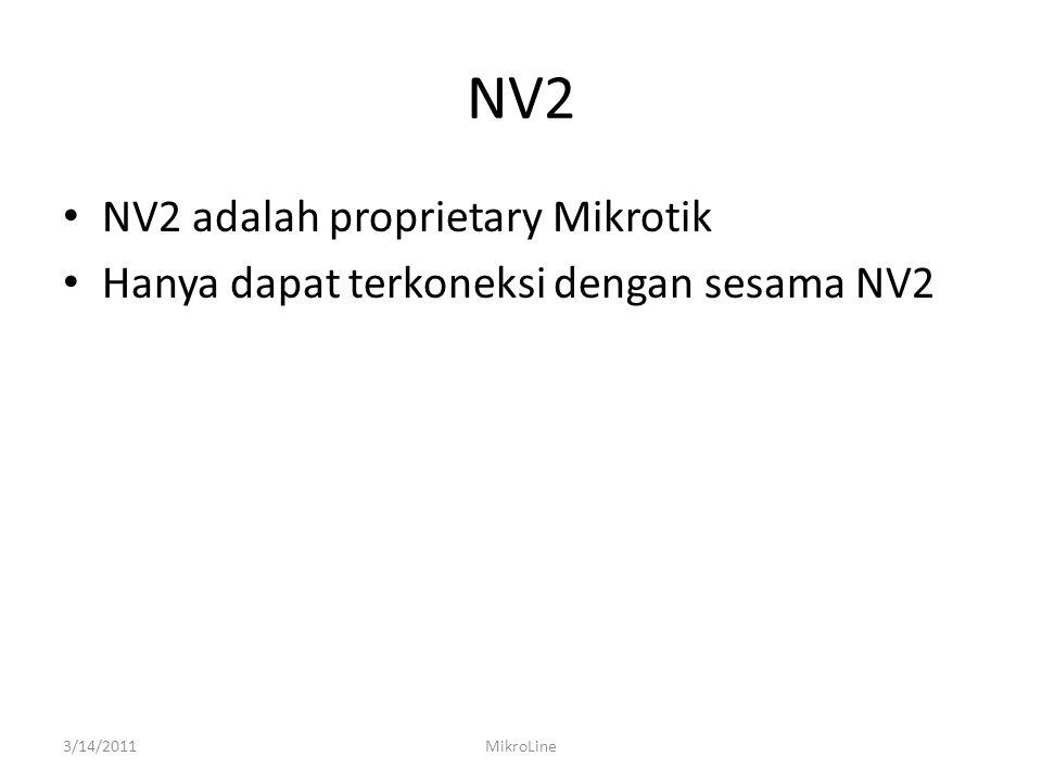 NV2 NV2 adalah proprietary Mikrotik