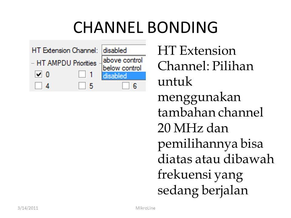 CHANNEL BONDING