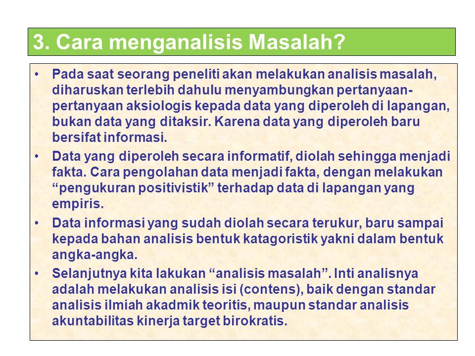 3. Cara menganalisis Masalah