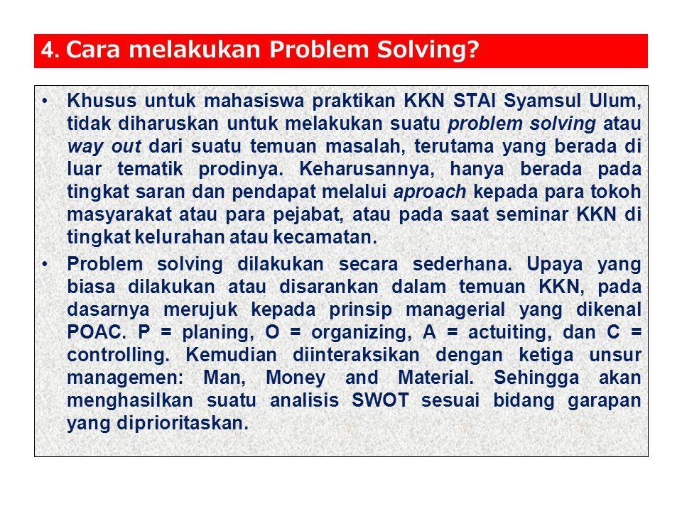 4. Cara melakukan Problem Solving
