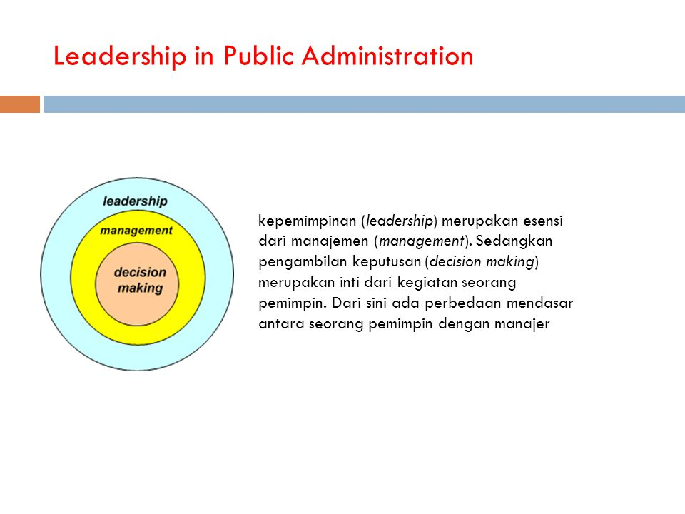 Leadership in Public Administration
