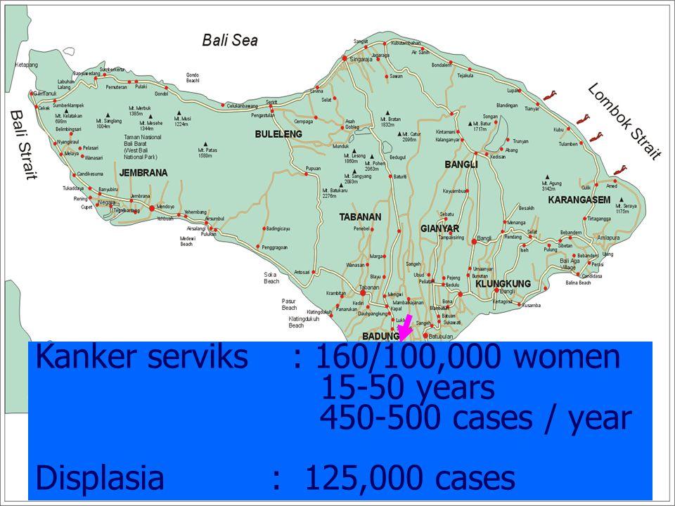Kanker serviks : 160/100,000 women