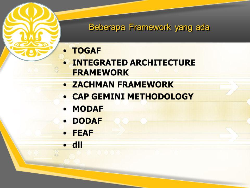 Beberapa Framework yang ada