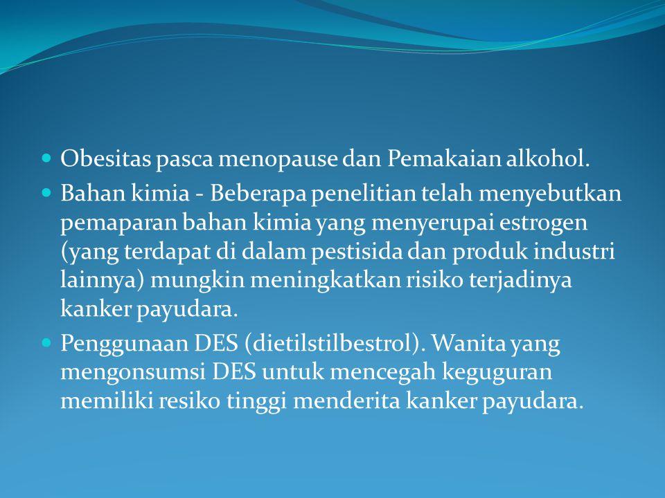 Obesitas pasca menopause dan Pemakaian alkohol.