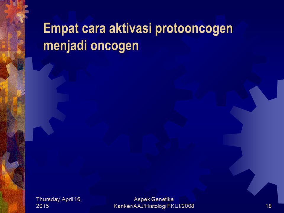 Empat cara aktivasi protooncogen menjadi oncogen