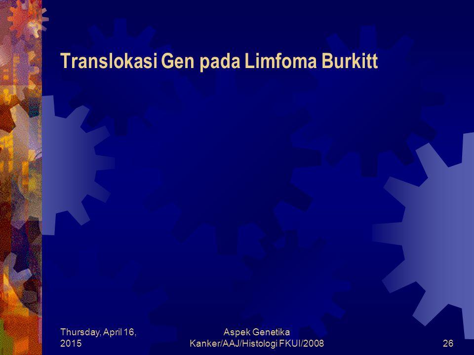 Translokasi Gen pada Limfoma Burkitt