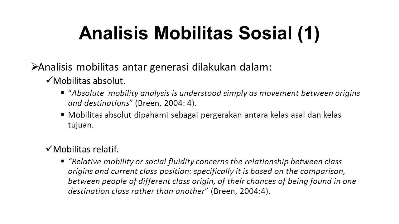 Analisis Mobilitas Sosial (1)