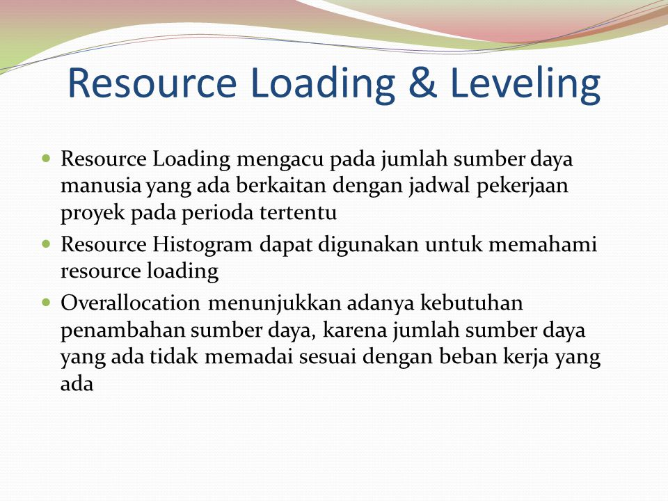 Resource Loading & Leveling