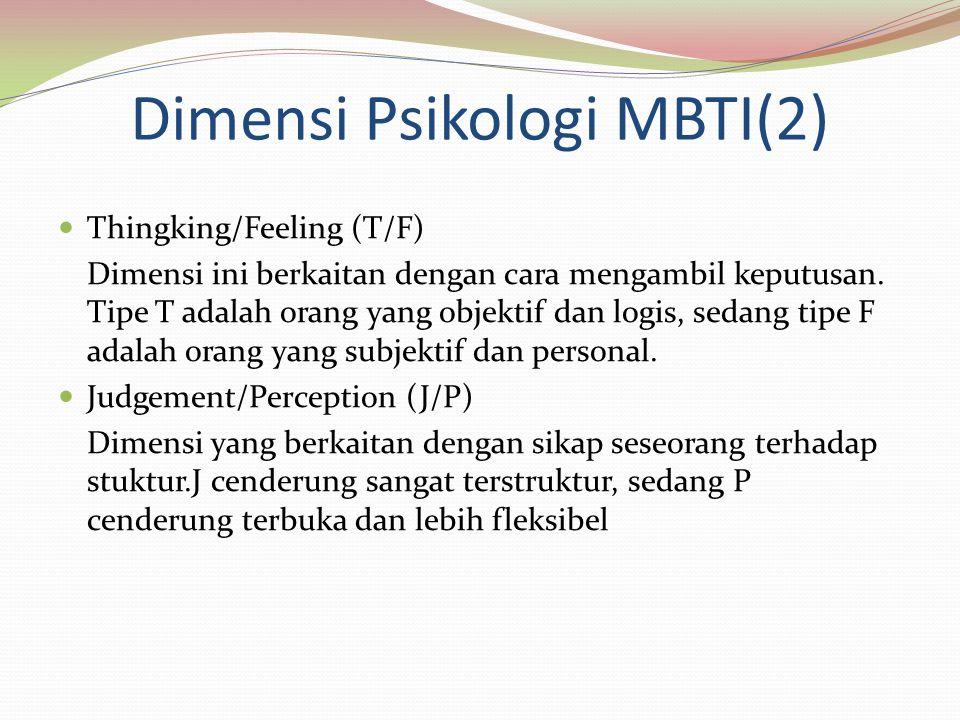 Dimensi Psikologi MBTI(2)