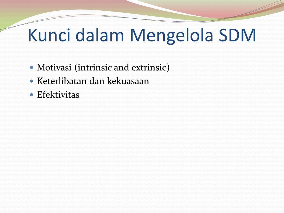 Kunci dalam Mengelola SDM
