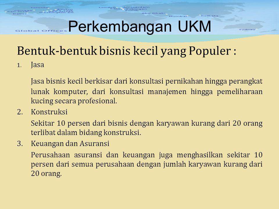 Perkembangan UKM Grosir (wholesaling)